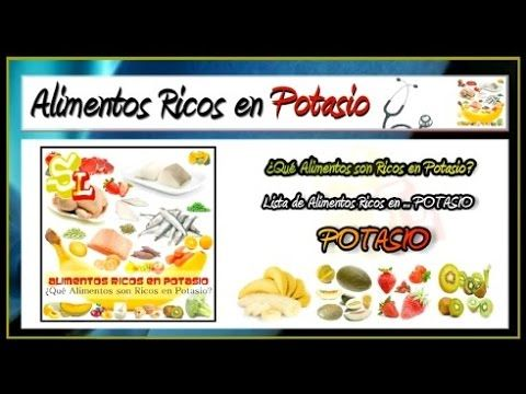 12 best images about potasio on pinterest omega 3 bottle and plays - Potasio alimentos ricos ...