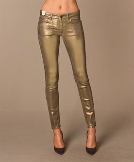 Drykorn for beautiful people - Drykorn ON Skinny Jeans - Goud Metallic