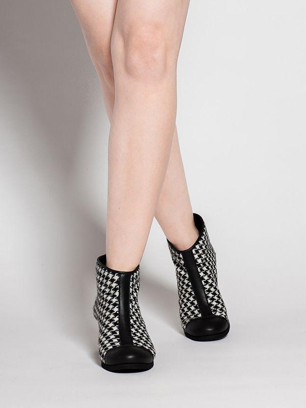 #COCO #Butydamskie  #tkanina  #skóra  #2016 #manista  #manistashop  #botki #women shoes   #fabric  #skin #2016  #booties #pepitka #houndstooth