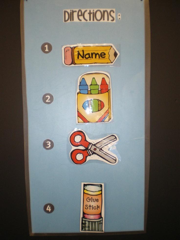 Mrs. Bremer's Kindergarten: class management...directions board