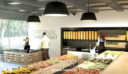 Finally! Zero packaging, zero waste supermarkets coming to Berlin. Original Unverpackt: Germany's First Zero-Waste Supermarket to Open this Summer | Inhabitat - Sustainable Design Innovation, Eco Architectur...