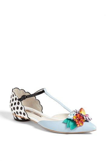 Are these adorable or what!  Sophia Webster 'Nina' T-Strap Flat available at #Nordstrom