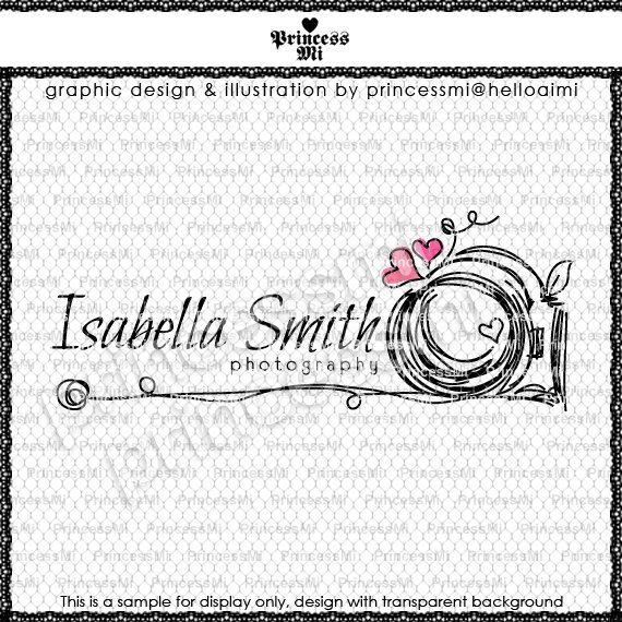 Custom Premade Logo Design - hand drawn sketch doodle digital camera illustration photography logo business by princess mi logo1275-10