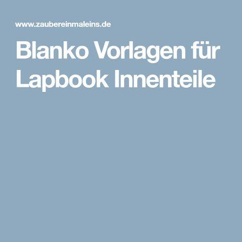 Blanko Vorlagen für Lapbook Innenteile