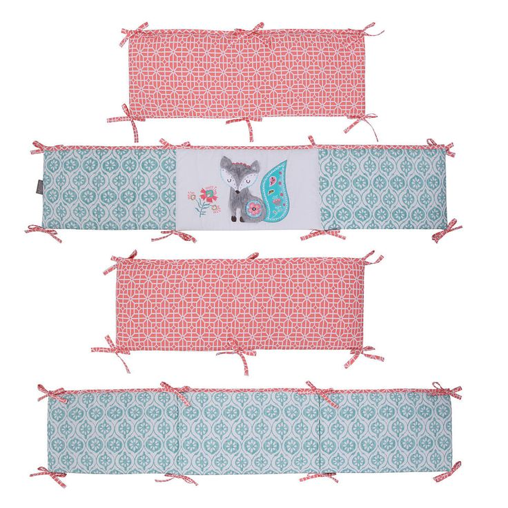Babies R Us Exclusive! The Fiona Crib Bumper is a four piece bumper with an…