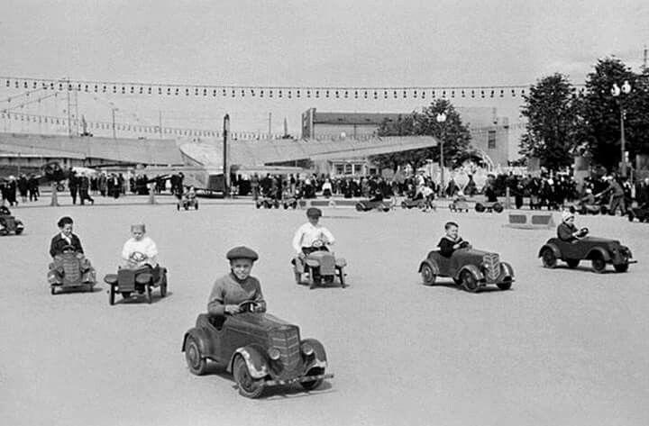Детский городок, ЦПКиО, 1939г.
