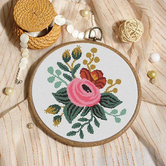 Xstitch floral cross stitch pattern xstitch modern cross