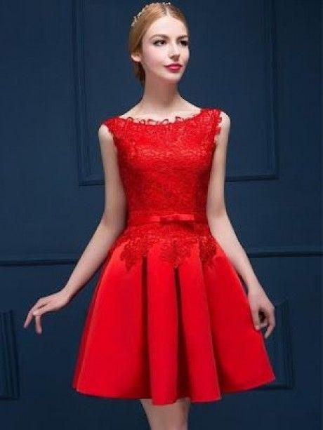 Vestidos rojos para coctel
