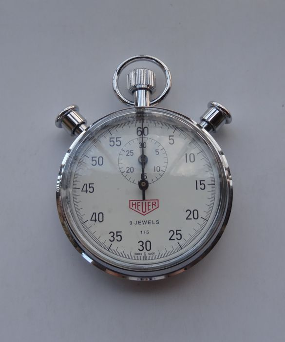 Currently at the #Catawiki auctions: Tag Heuer - 1/5 Heuer Mechanical Stopwatch Ref. HL 810 No. 1166/1860 Limited ...