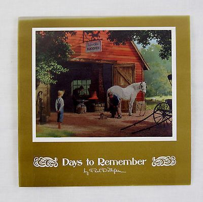 Vintage 1970's Paul Detlefsen Horse and Buggy Days Color Foil Etch Fold Out Card
