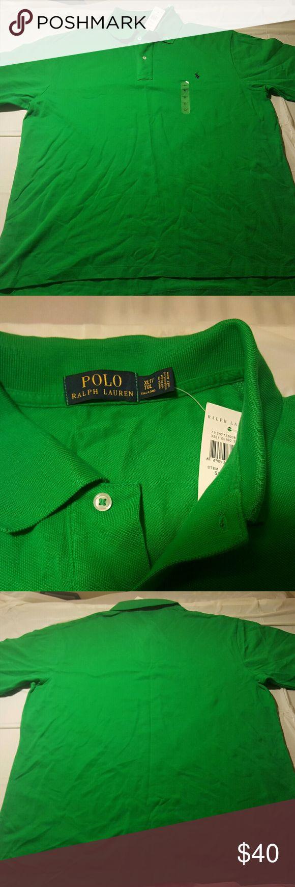 Polo Ralph Lauren mens xlt bright green polo s/s New with tags Polo Ralph Lauren mens xlt bright green polo shirt. Short sleeve. Polo by Ralph Lauren Shirts Polos
