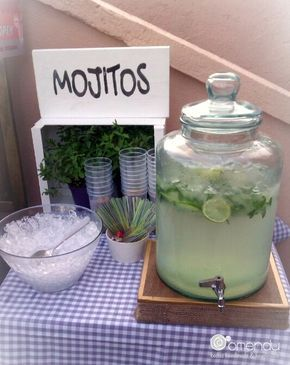Mojitos Bar en #frontónwedding                                                                                                                                                                                 Más