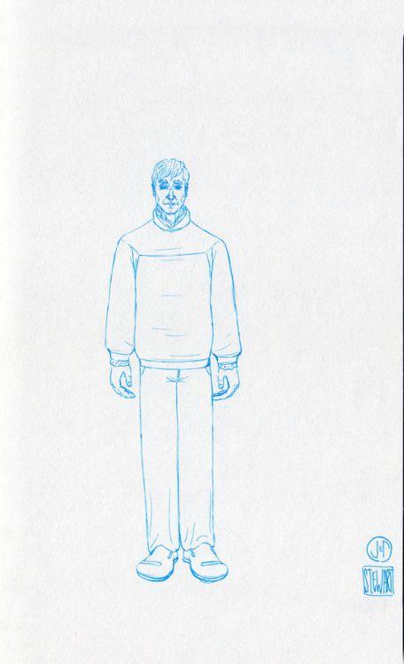 Challenge Day 189 Year 3  Muji Light Bbue 0.25mm nib pen on Studio Sketchbook.  Daily Character Design Challenge, 2017-11-30, Year 3 - No189b, by Jeff Stewart #365_day_challenge #oc #conceptart #CharacterDesign #CharacterChallenge #original_character #character_art #concept #challenge #drawing #sketch #line_art #lineart #line_drawing #linedrawing #art #artist #artists_on_tumblr #sci_fi #scifi #character_design #concept_art #character_challenge