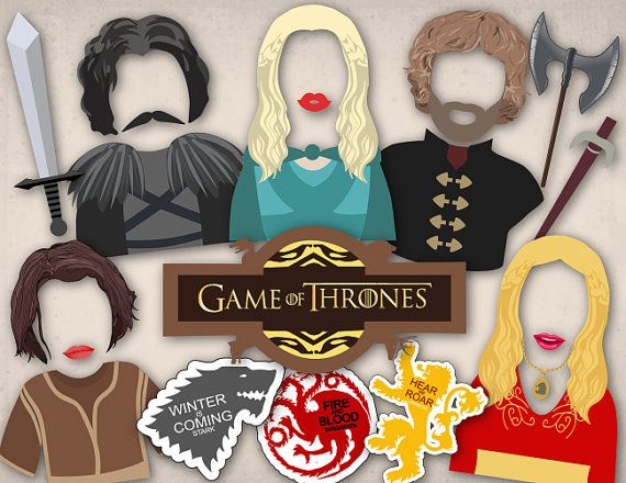 Printable Game of Thrones Photo Booth Props Killing Game