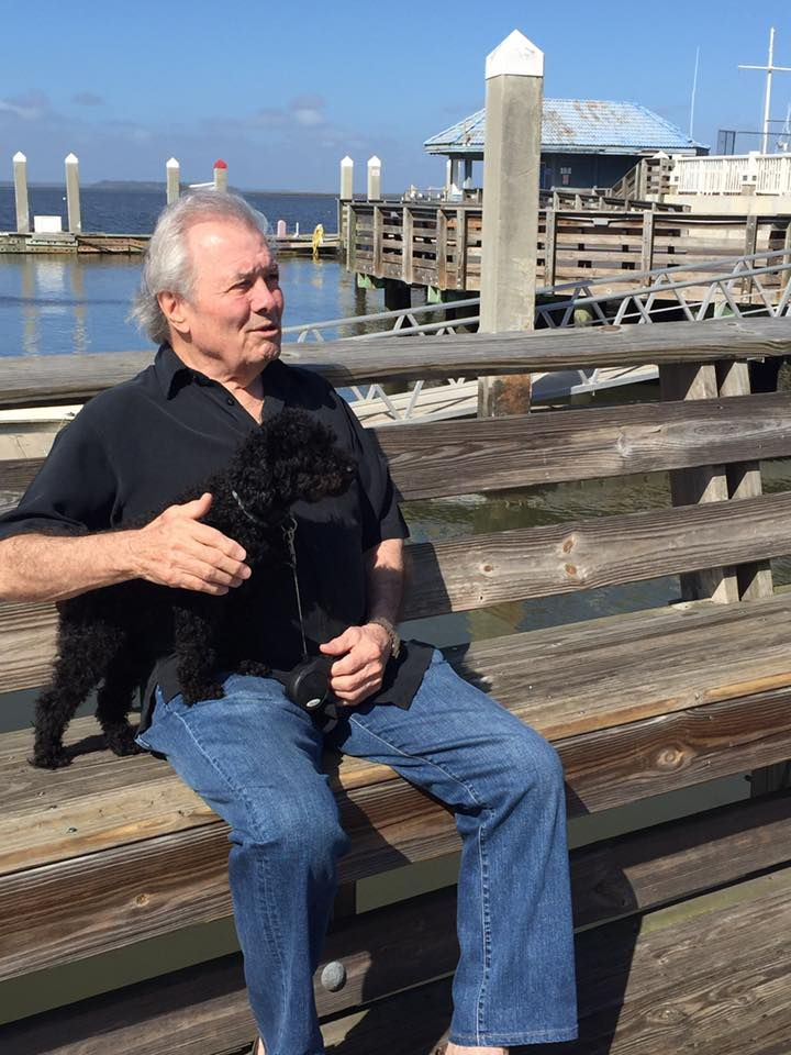 Jacques Pepin and his dog Paco.