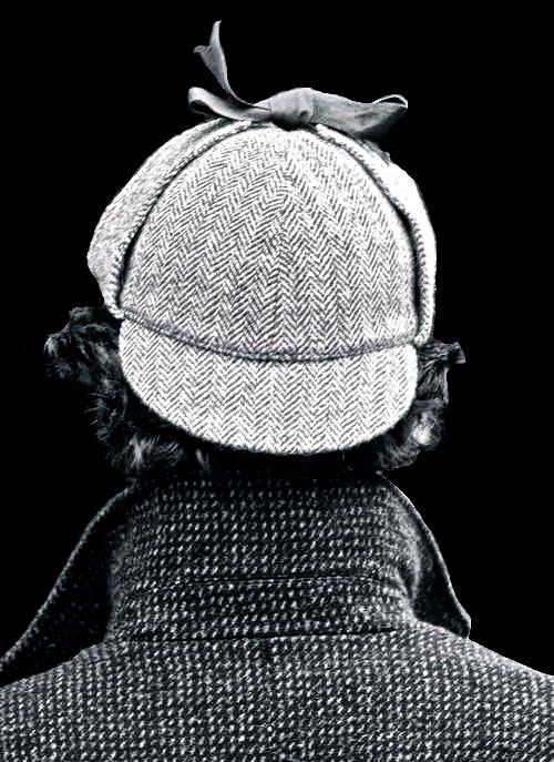 "Sherlock. The hat: ""What is this? It has two fronts!... It has ear flaps, John. It's an ear hat!"""