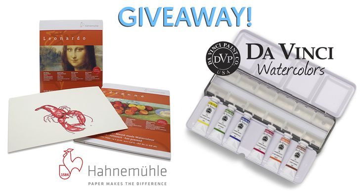 Hahnemühle Paper & 6 Tubes of Da Vinci Watercolors Giveaway