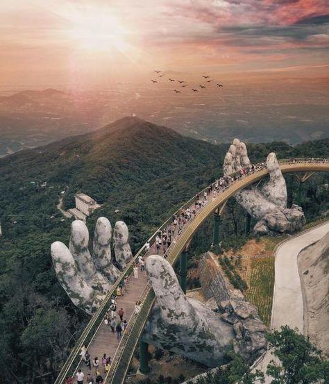 Cầu Vàng: So spektakulär ist Vietnams neue Fußgängerbrücke