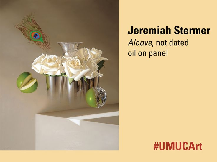 """This week's #UMUCArt featured work is from Baltimore-born Jeremiah Stermer. A self-taught realist and surrealist painter, he says, """"I call myself a realist/surrealist, though I think of my brand of surrealism as being very grounded in tradition."""" What do you think of this particular piece?"""