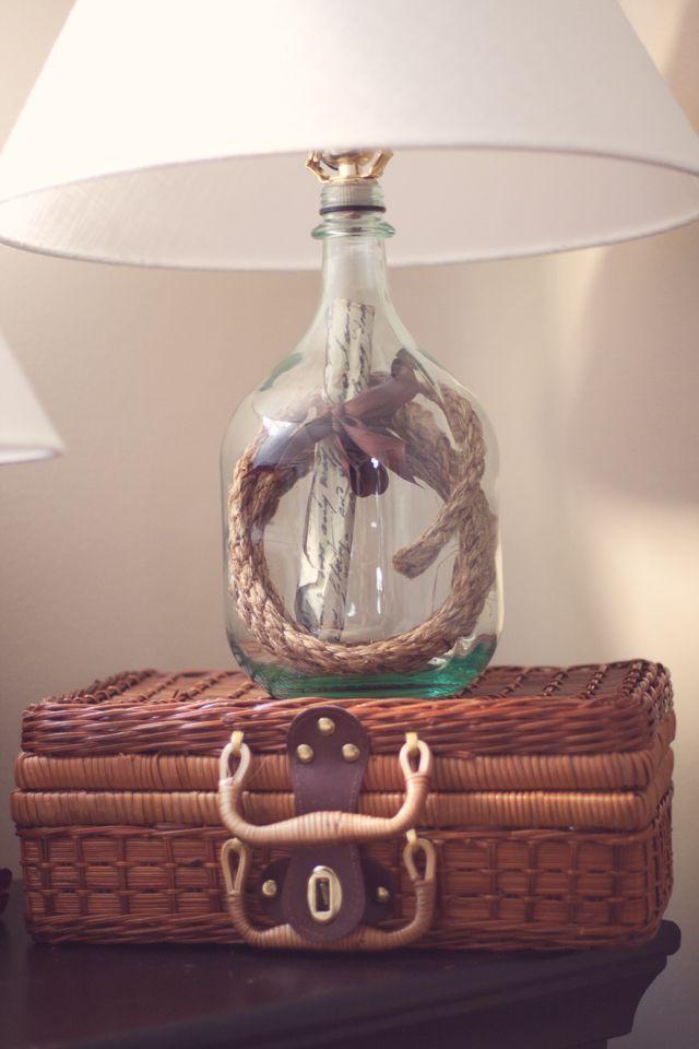 Wine bottle lamp diy diy wine bottle lamp craft ideas for Wine bottle light ideas