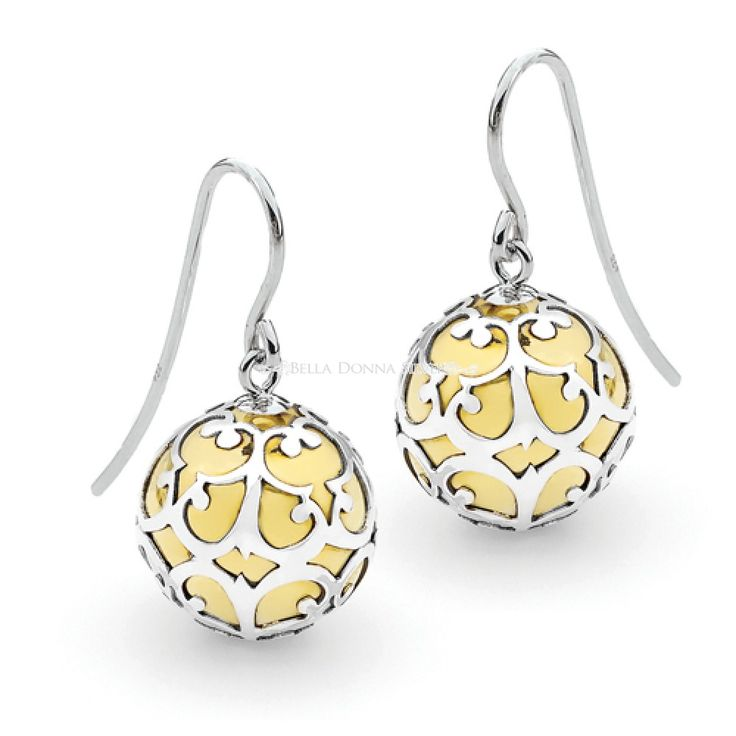 Sterling Silver Lace Harmony Ball Earrings by Bella Donna Silver
