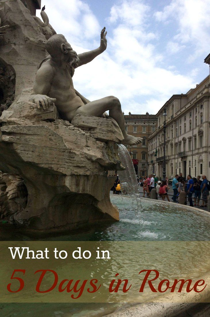Heading to Rome? Here is a sample itinerary for what to do if you have five days in Rome, Italy.