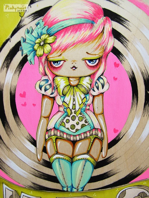 Magic Carnival Show by Pinkytoast. One of my faves! Love the pink and teal.