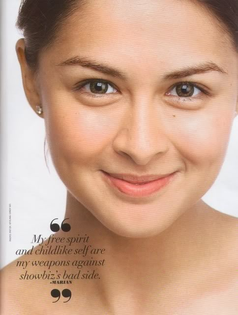 Filipina actress Marian Rivera