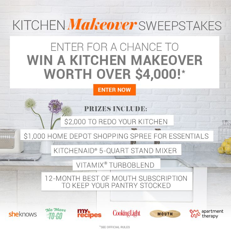 This Is Your Chance To Win A Kitchen Makeover Worth Over $4,000!