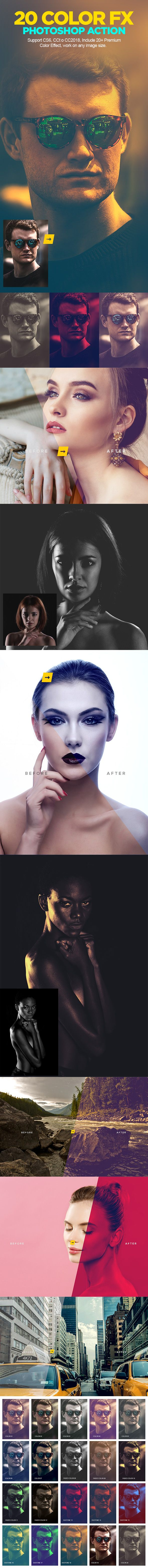 Color Grading #Photoshop Action V.01 - Photo Effects #Actions