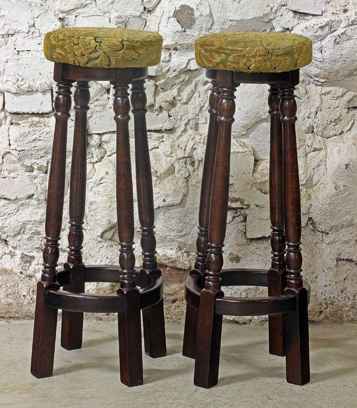Старинные барные стулья. Каркас массив.2 штуки.