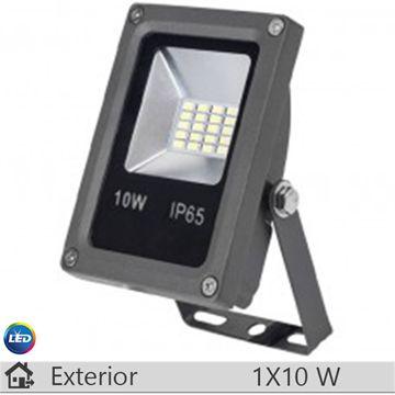 Proiector LED, antracit, 10W, lumina rece