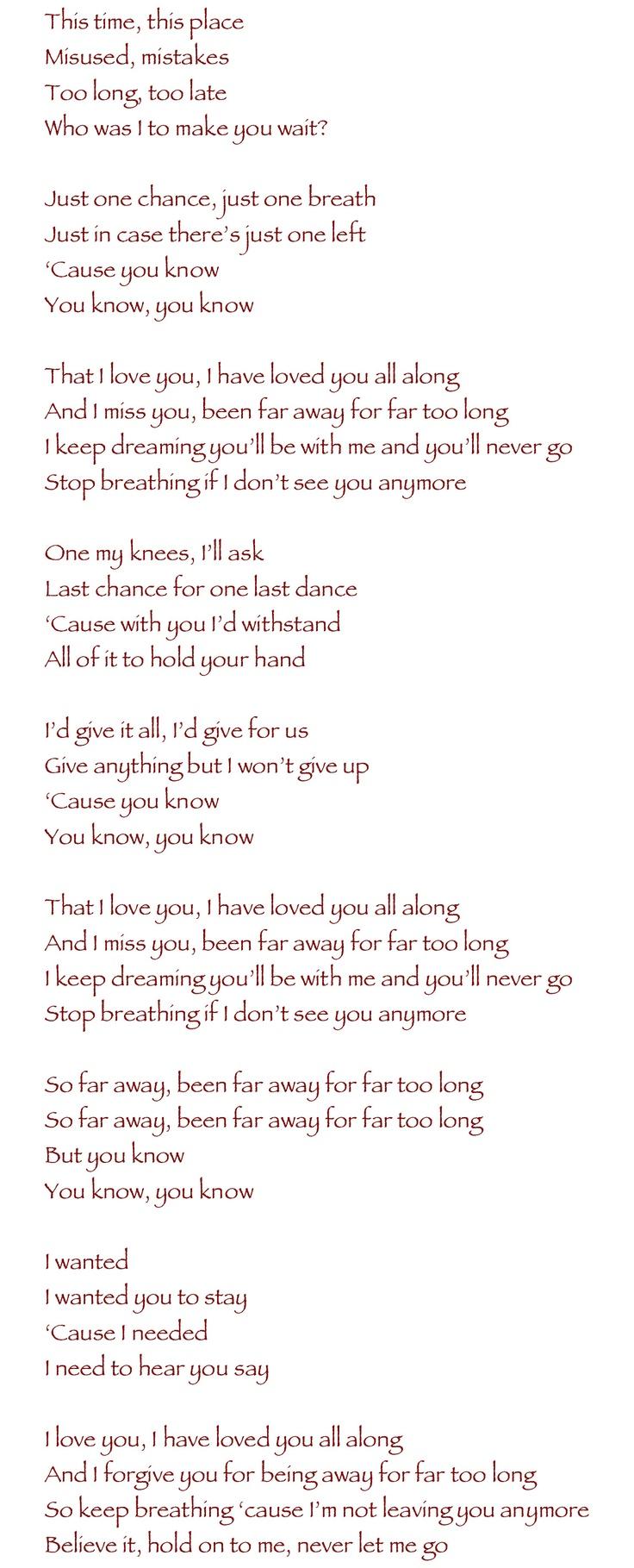 Nickelback - Far Away <3