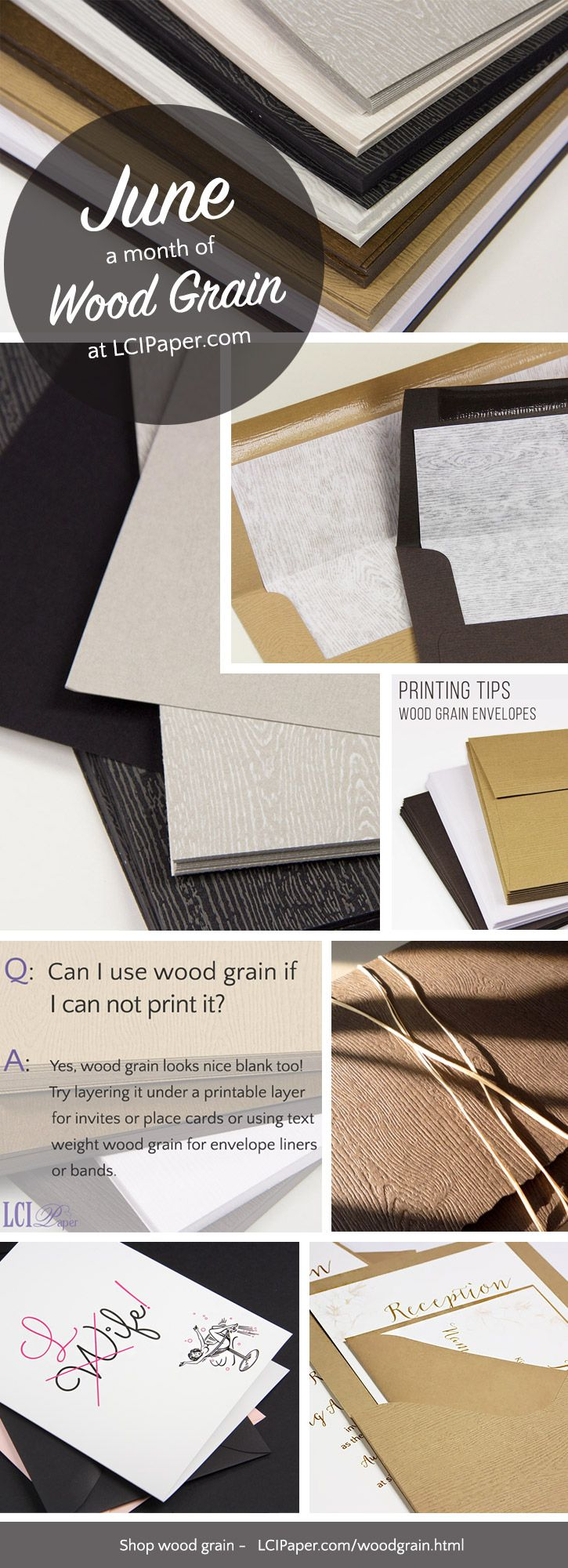 June wrap up - a month of wood grain paper at LCIPaper.com