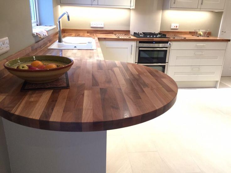 Lima Kitchens Milton Keynes - Solid walnut worktop and breakfast bar