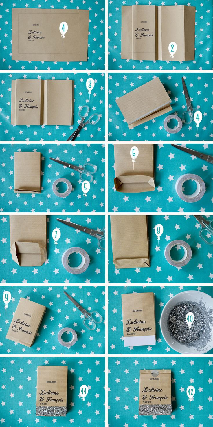 that is so smart { DIY kraft package from Un Beau Jour Blog }