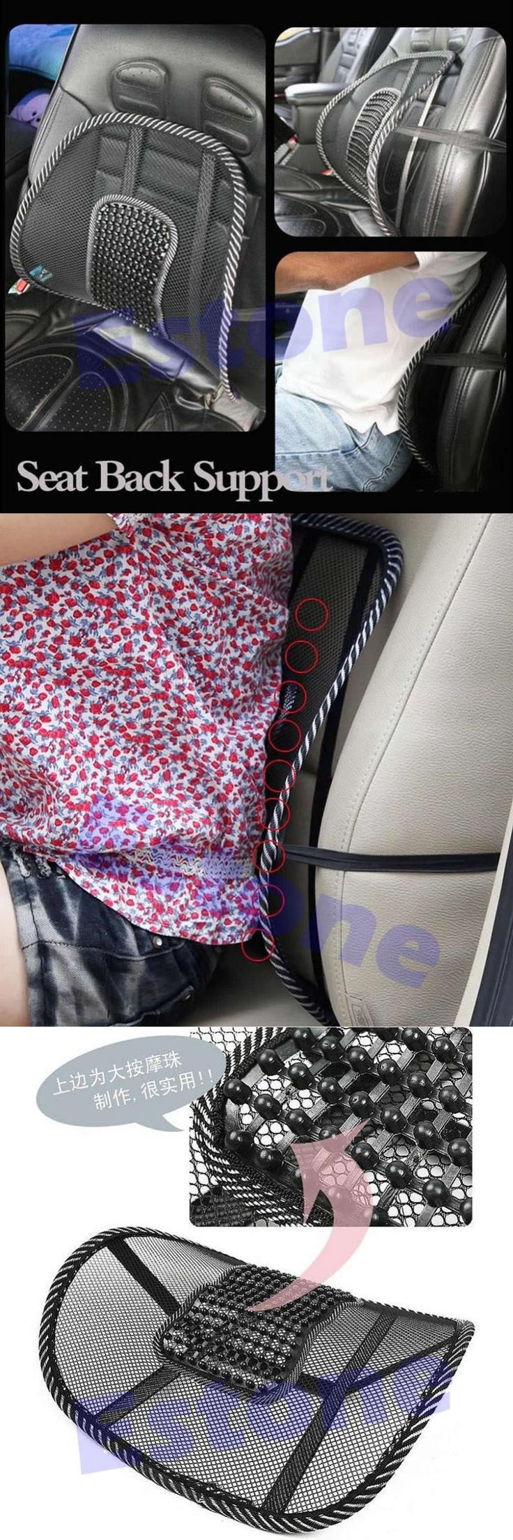 A25 -Vent Massage Cushion Mesh Back Lumber Support Office Chair Car Seat Pad New Cool