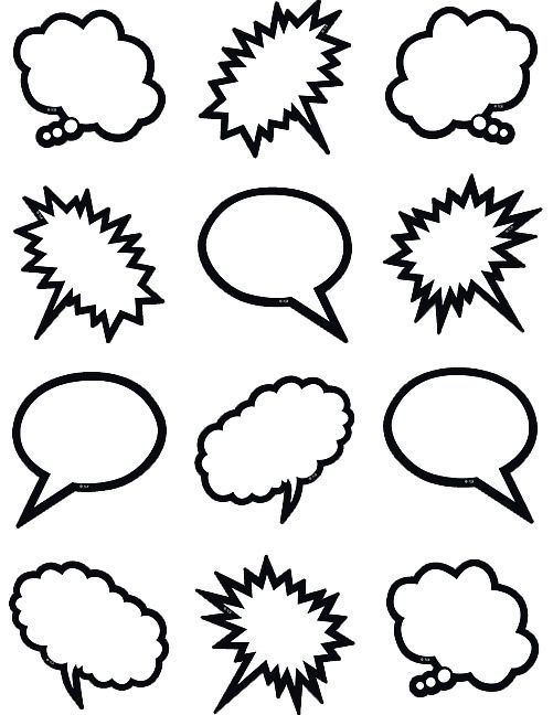 Black & White Speech-Thought Bubbles Mini Accents (TCR5641