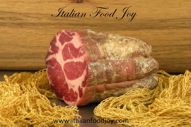 #Coppa from #Italy Superfine italian #cold #cut from #Emilia. Seasoned #pork #meat from a top small #producer. It's a #delicious  #appetizer and a  #tasty ingredient for hot and cold dishes. #First #choice only from #Italian #Food Joy www.italianfoodjo... for UK and other countries www.italianfoodjo... for DE and AT only