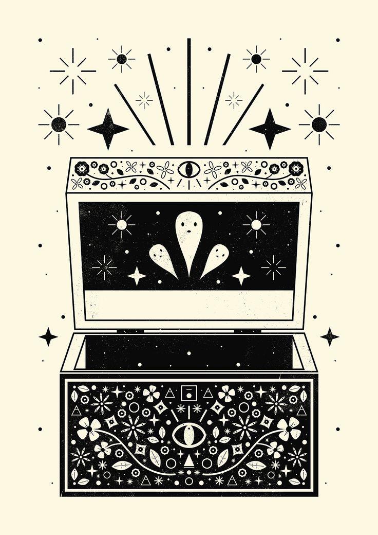Carly Watts Art & Illustration: Pandora's Box #magic #mystical #lore #illustration #art #design