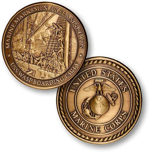 Marine Corps Challenge Coin - Dog Tag - Bottle Opener Coin