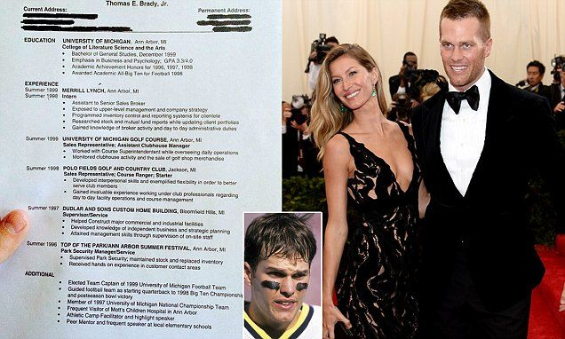 Hilarious resume Tom Brady planned to use before his 2000 draft pick