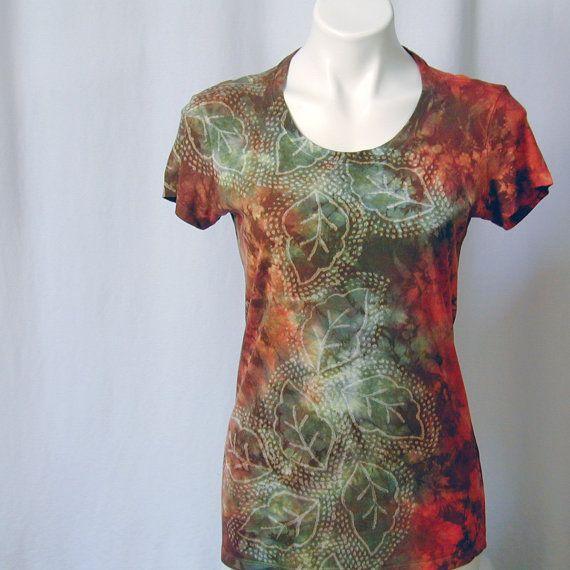 Gloria inversa Eco orgánica camisetas del otoño de por dyedianadye