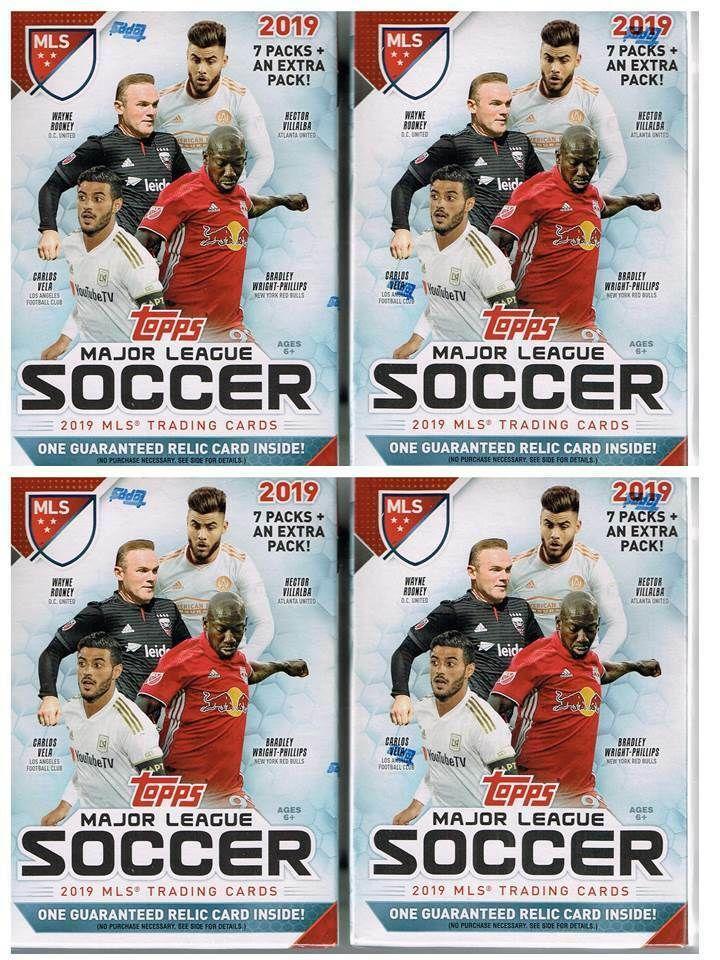 4 2019 Topps Mls Major League Soccer Trading Cards 8pk Retail Blaster Box Lot Majorleagueandinternationalsocc Major League Soccer Trading Cards Soccer Cards