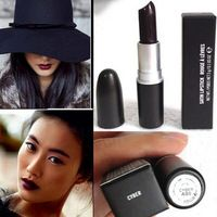 Maquillaje de la marca mc mate batom maquiagem lápiz labial a prueba de agua de larga duración Lip Gloss vampiros estilo de maquillaje lápiz labial púrpura negro