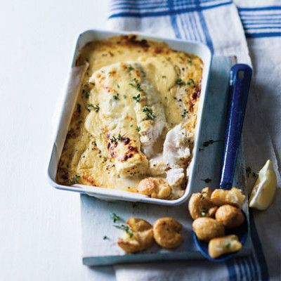 Taste Mag | Baked fish with mustard cheese sauce @ http://taste.co.za/recipes/baked-fish-with-mustard-cheese-sauce/