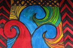 maori koru art for kids