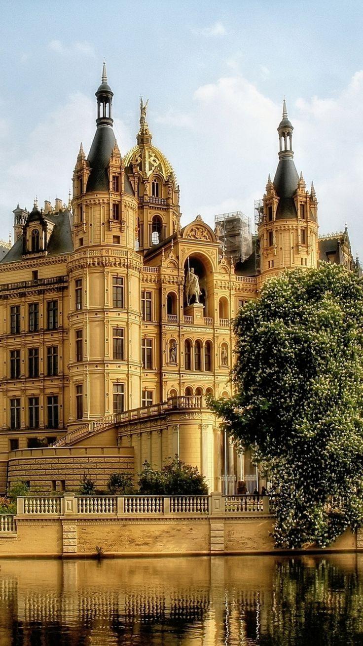 Schweriner Schloss, Schwerin, Mecklenburg-Vorpommern, Germany