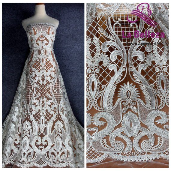 ac7a72bb840 2019 new cord lace fabric off white wedding ddress lace fabric ...