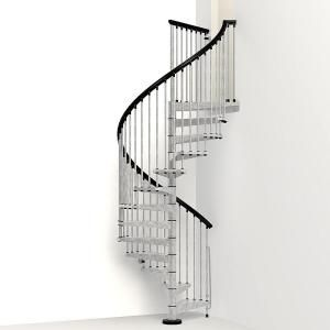 Arke Enduro 63 in. Galvanized Steel Spiral Staircase Kit K05003 at The Home Depot - Mobile